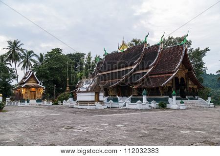 Wat Xieng Thong Buddhist Temple In Luang Prabang,  Laos