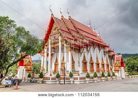 Wat Chalong Or Wat Chaiyathararam, Chalong, Phuket,   Thailand