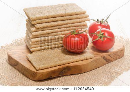 Crisp Bread With Fresh Tomato