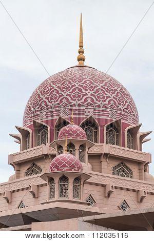 Dome Of Putra Mosque In  Putrajaya