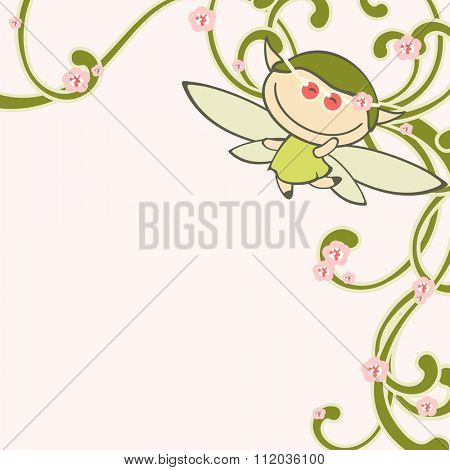 Spring fairy (raster version)