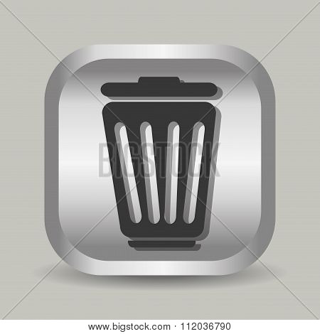 Delete or trash can Line icon