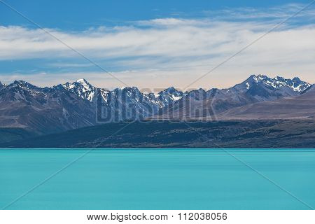 Magnificent Lake Tekapo And Snow-capped Southern Alps, New Zealand