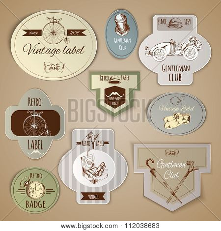 Gentleman Labels Set