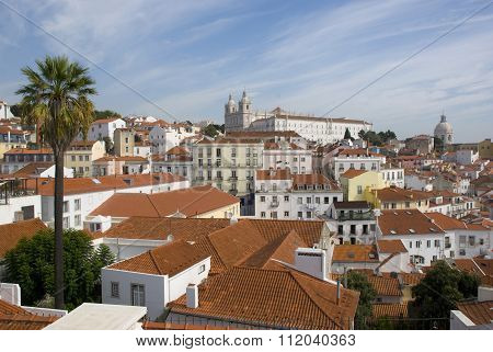 view over Lisbons Alfama, Portugal