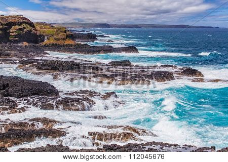 Rugged Coastline Of Nobbies, Phillip Island, Australia