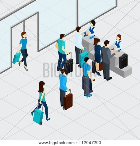 Airport Check In Line