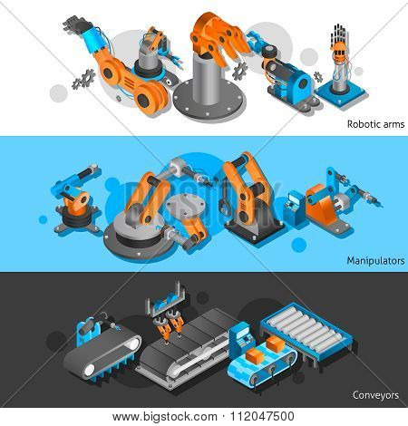 Industrial robot banner set