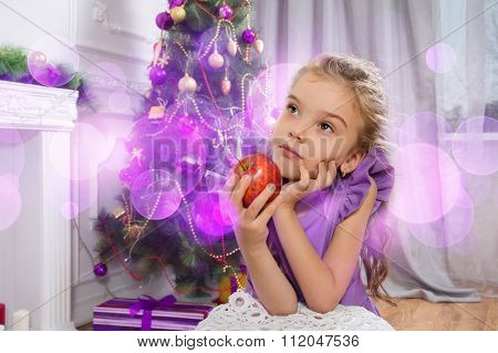 Portrait Of A Cheerful Family Celebrating Christmas - Stock Image