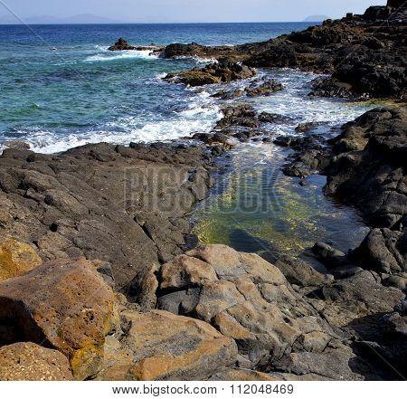 Salt In Lanzarote  Isle Foam Rock Spain