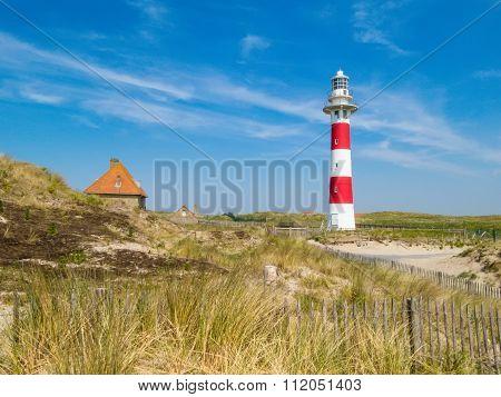 Lighthouse Vierboete, Nieuwpoort, West Flanders, Belgium