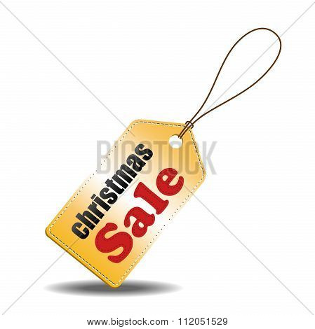 Christmas sale tag, can use for your business or promotion. Vector illustration.