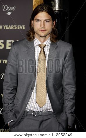 HOLLYWOOD, CALIFORNIA - December 5, 2011. Ashton Kutcher at the Los Angeles premiere of