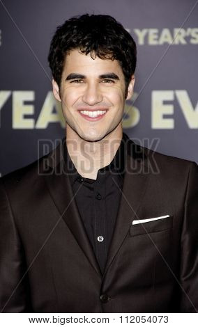 HOLLYWOOD, CALIFORNIA - December 5, 2011. Darren Criss at the Los Angeles premiere of