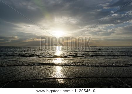 Shining Light Over Ocean