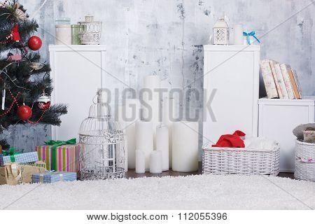 Decorated Christmas Interior
