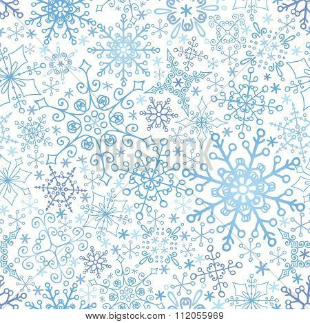 Snowflakes lace seamless pattern,Winter,Christmas,New year