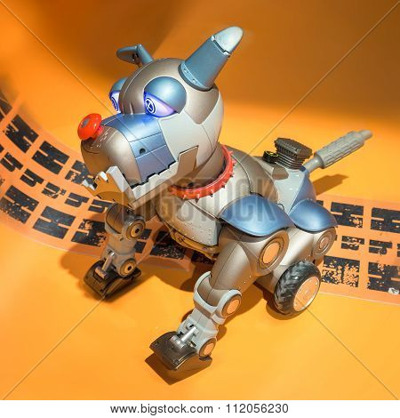 Toy Robot Dog Wagging The Tail