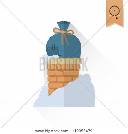 Christmas Gift in Chimney