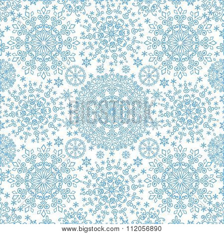 Snowflakes lace symmetry  seamless pattern