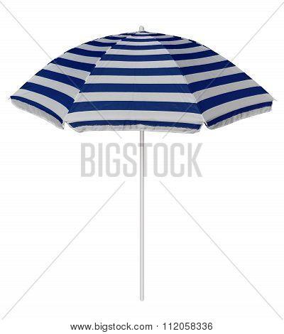 Beach Striped Umbrella - Blue