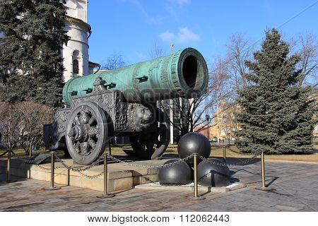 Tsar Cannon In The Moscow Kremlin, Winter