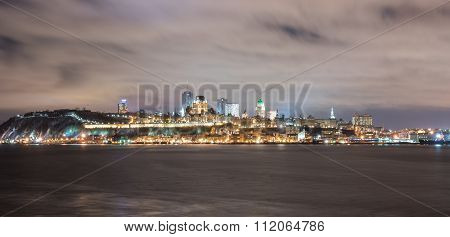 Quebec City Panorama At Night