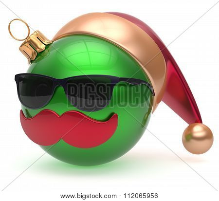 Christmas Ball Emoticon Santa Claus Hat Adornment Decoration