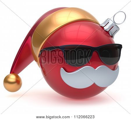 Emoticon Christmas Ball Santa Claus Hat Adornment Decoration