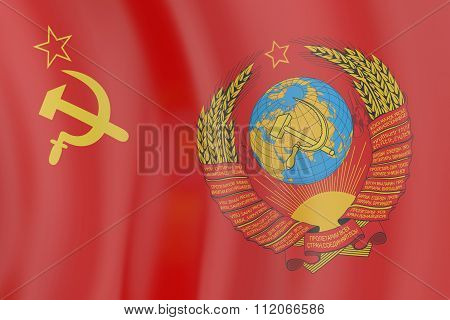 Flag And  Blazon Of The Ussr