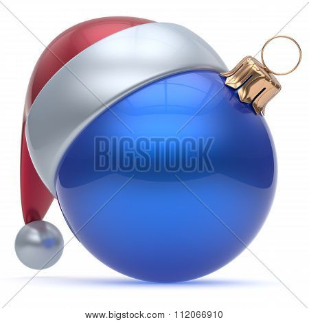 Christmas Ball Adornment Ornament Blue New Year's Eve Bauble