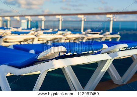 Reclining Chairs On A Cruise Ship