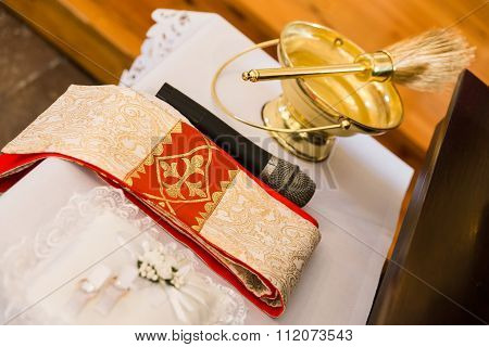 Rings, Towel, Microphone And Brush