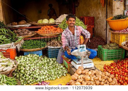 Indian Vegteable Seller