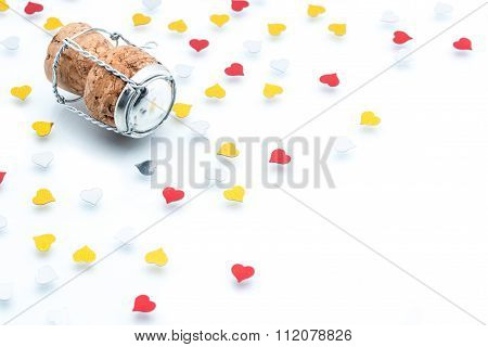 Cork - Stopper With Heart Shape, Celebration Valentine's Day