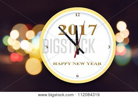 Background Of Happy New Year Timing Countdown Concept