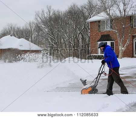 Working with a Snowblower