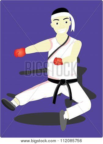 the karate man