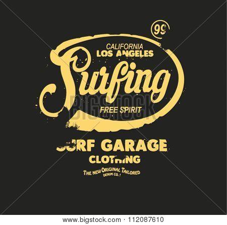 vintage surfing type logo 2