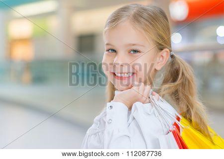 Little girl having shopping