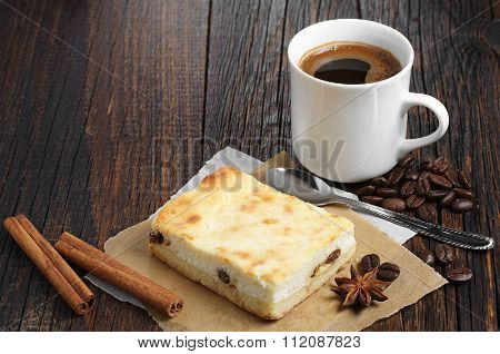 Cheese Cake With Coffee