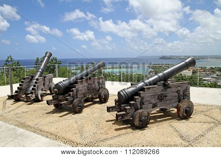 Cannons at Fort Apugan in Guam, Micronesia