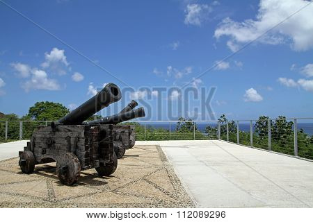Cannons at Fort Apugan in Guam, Micronesia