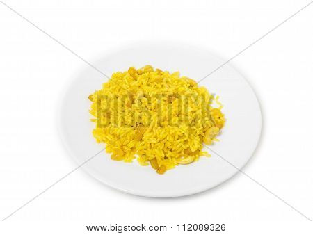 Arab rice with raisins and cashew.