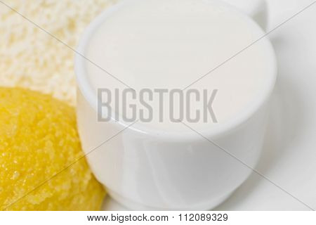 Traditional moldovan mamaliga porridge.