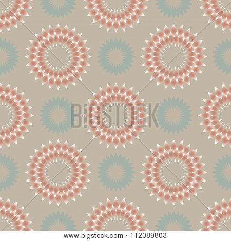 Floral seamless pattern in light colors
