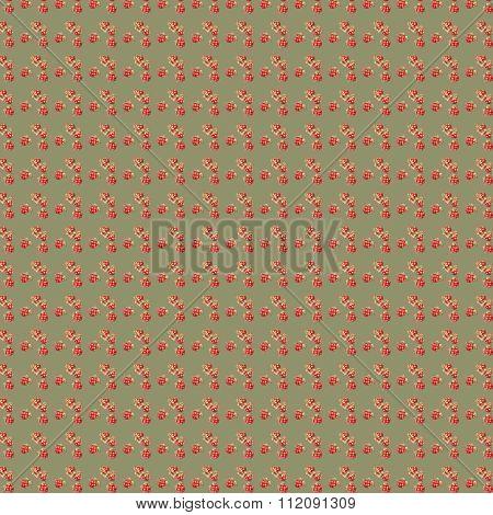 Small cloudberry pretty watercolor green handmade pattern