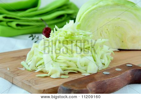 ingredient  food fresh cabbage cut