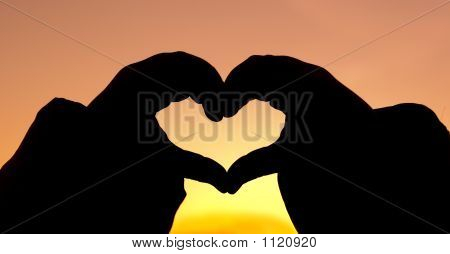 Silhouette Hand Heart