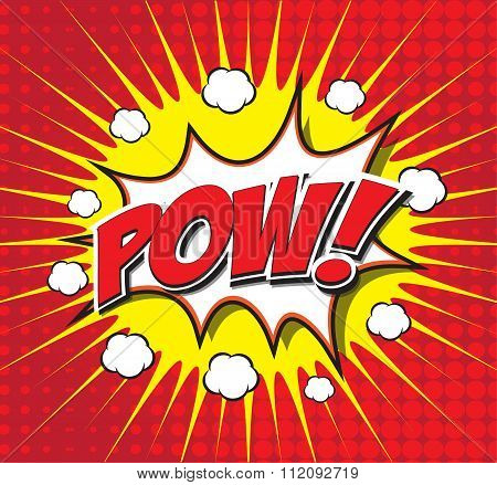POW! wording sound effect